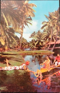 Coco Palms Resort Vintage Card